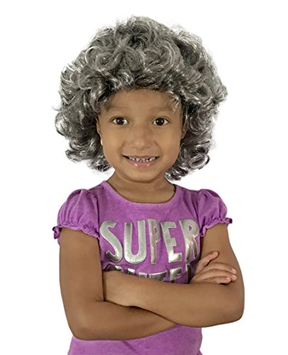 Queen Elizabeth Ii Wig - KINREX Queen Elizabeth Wig - Wigs for Adults, Teens and Kids - Queen Costume Accessories - Silver/Gray