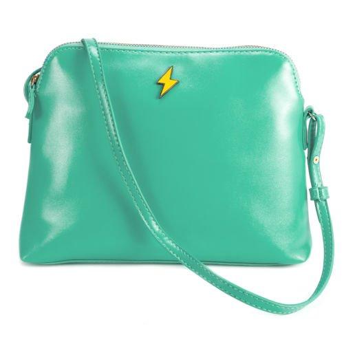 The Pecan Man Mint Green Crossbody Handbag Tote Woman Satchel Shoulder ()