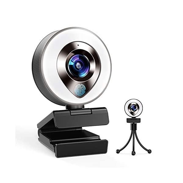CASECUBE FHD 1080P Webcam with Ring Light
