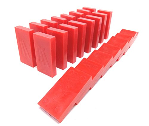 Domino Rush Toppling Dominoes Plastic 100 Pieces  Red