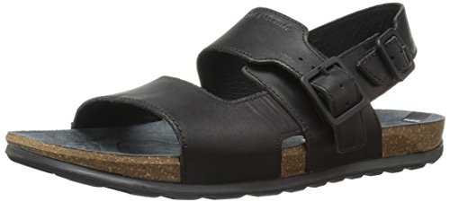 Merrell Herren Downtown Backstrap Buckle Sandalen Schwarz (Black)