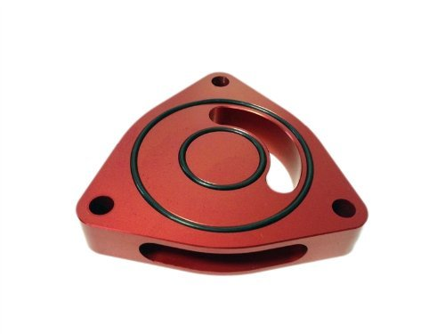 Torque Solution Blow Off BOV Sound Plate (Red) Fits Kia Optima 2.0T