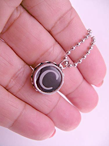Vintage Typewriter Key Pendant Necklace You Choose Letter with 18 Inch Ballchain