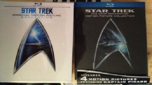 STAR TREK Motion Pictures BLU RAY Sets (BOTH Original AND Next Generation Together)