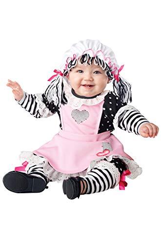 Baby Rag Doll Halloween Costume (California Costumes Women's Baby Doll Infant, Black/Pink/White,)