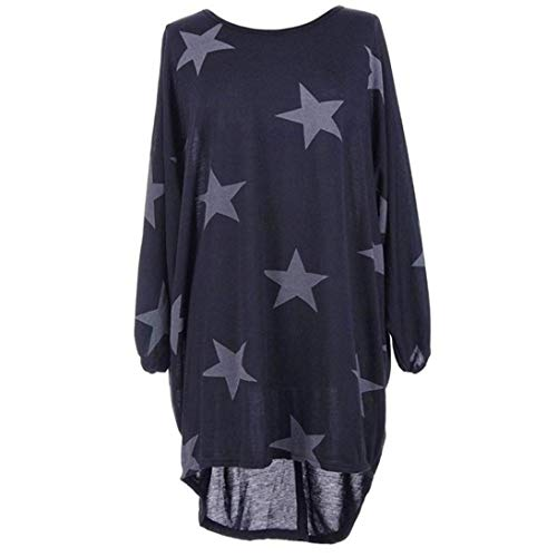 WOCACHI Women Plus Size Batwing Sleeve Stars Print Baggy Top Loose Long Blouse Clearance sale! Big Promotion! Discount! Halloween End of Season Tops for Women Shirts Ladies Womens Blouses Clothes -