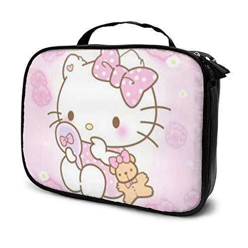 Hello Kitty Make-up-Tasche, Reise-Kulturbeutel, groß, Kosmetiktasche für Frauen, 18,8 x 24,9 cm