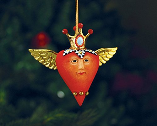 (Patience Brewster Mini Heart with Crown Figural Ornament Christmas Holiday Tree Decoration # 30844 )