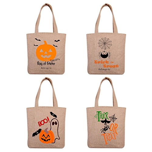 [Misaky Halloween Candy Bag Gift Bag Canvas Tote Beach Bags Shopping Bag] (Toddler Corn Dog Costume)