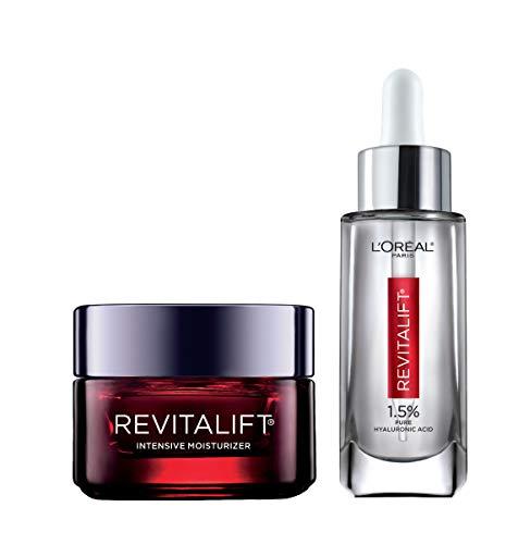 41pMkGs2zEL - L'Oreal Paris Skin Care Revitalift Hyaluronic Acid Facial Serum and Triple Power Face Moisturizer Anti-Aging Skin Care Set, 1 Kit