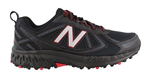 New Balance Men's MT410v5 Cushioning, Black/Red 9 4E US