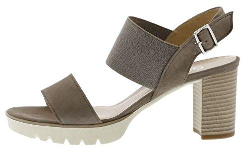 Gabor 65820-12 - Sandalias de vestir de Piel para mujer gris claro