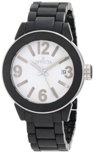Invicta Women's 1164 White Dial Black Ceramic Watch