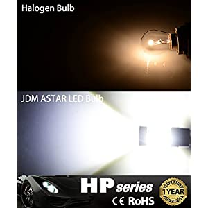 JDM ASTAR Extremely Bright Max 50W High Power 3056 3156 3057 3157 LED Bulbs ,Xenon White