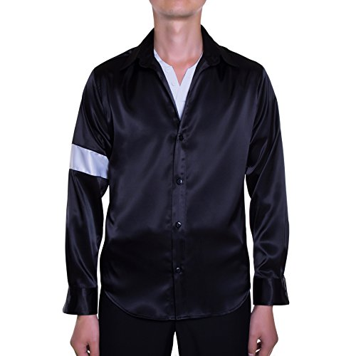 Mjb2c - Michael Jackson Costume - Black or White Shirt - Black - (Black Or White Costume Michael Jackson)