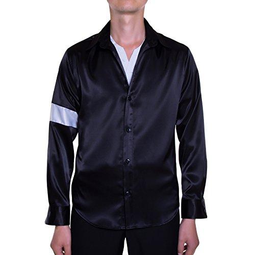 [Mjb2c - Michael Jackson Costume - Black or White Shirt - Black - Small] (Michael Jackson Black Or White Costume)