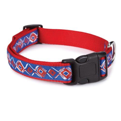 Zack & Zoey Nylon Brite Diamonds Dog Neck Collar, 6-10-Inch, Red (Nylon Brite Diamonds Zoey)