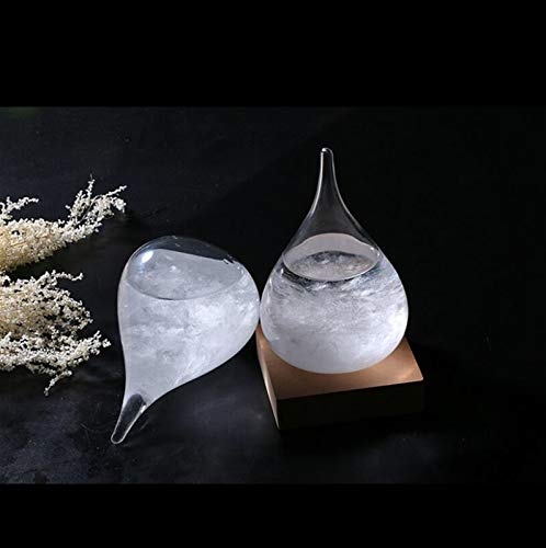 Storm Glass Clear Weather Predictor and Barometer Decoration Unique Home and Office Desktop Gift (LED Base Included!) by Wilson's Home (Image #1)