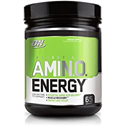 Optimum Nutrition Amino Energy with Green Tea and Green Coffee Extract, Flavor: Green Apple, 65 Servings