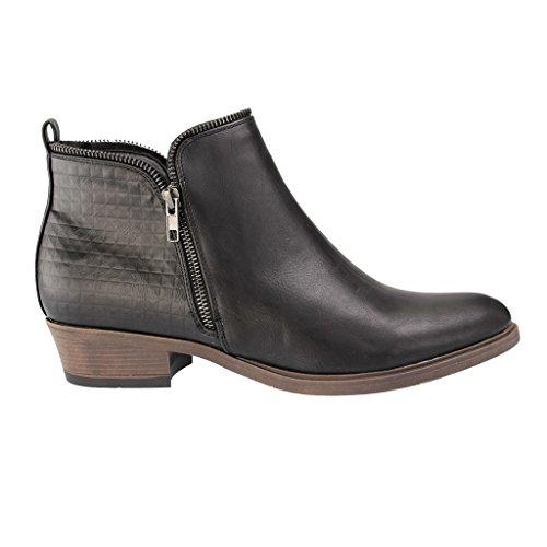 FITTERS FOOTWEAR - Lena - Damen Booties - Schwarz Schuhe in Übergrößen