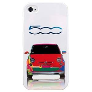 Fiat 500 - Funda rígida para Apple iPhone 5S, Blanco