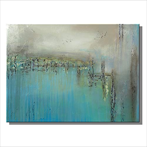Eloise World Studio - Abstract Canvas Painting Limited Edition Giclee Textured Wall Art Framed 48in. x 30in. x 1.5in. Oil -