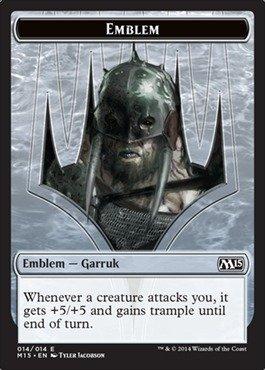 Magic: the Gathering - Emblem - Garruk (014/014) - Magic 2015 (Magic The Gathering Garruk Caller Of Beasts)