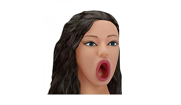 Amazon.com: Nadia Brunette Vibrating Blow Job Doll - Muñeca ...