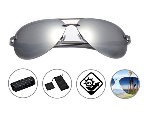 Zando Premium Classic Anti-Glare Full Mirrored Aviator Sunglasses Flash Mirror Polarized Lens - Pilots Are Used Sunglasses By Which