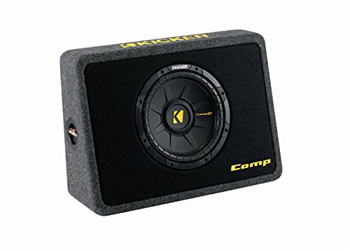 Kicker 40TCWS104 10-Inch 600W Thin Mount Loaded Subwoofer with - Audio Home Subwoofers Kicker