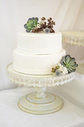 Vintage Metal Cake Stand White 16in & 16 Cake Stand. Bling Wedding Cake Stand  Cupcake Base  Dessert ...