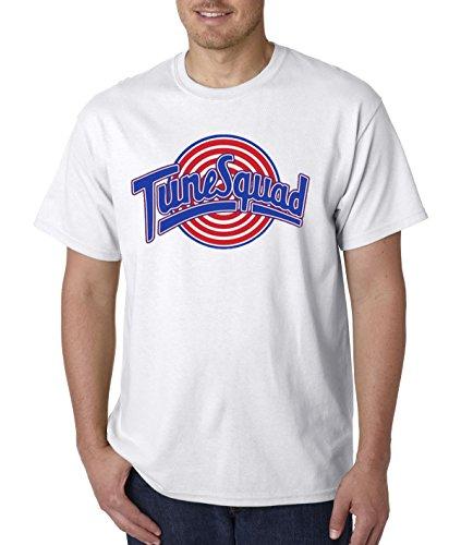 New Way 487 - Unisex T-Shirt Tune Squad Space Jam Basketball Team Large White -