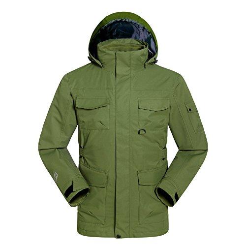 Verde Cappotto Donne Maniche Dyf Lunghe Fym Zip Impermeabile Uomini Esterna Collo L Giacca Giacche I7Hqawx