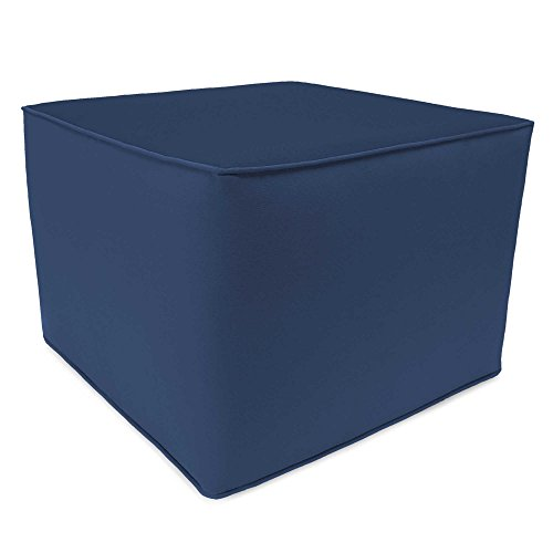 Outdoor Square Pouf Ottoman in Sunbrella® Canvas Small (Navy) - Canvas Outdoor Ottoman