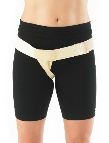 NEO G Lower Hernia Support - MEDIUM - RIGHT - Medical Grade Quality, breathable & adjustable, pre/post-surgery aid HELPS reduce symptoms of overstrain & exertion, inguinal hernias - Unisex by Neo-G