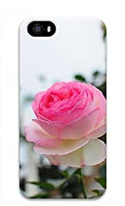 3D PC Case Cover for iPhone 5 Custom Hard Shell Skin for iPhone 5 With Nature Image- Pure Flower