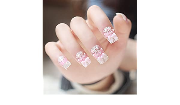 Fashion Life U07-G-48 Uñas postizas, con decoraciones: Amazon.es ...
