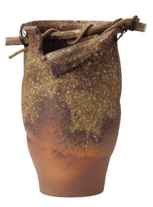 信楽 手桶型山つる傘たて&大きな花瓶 B00KCH6R0I
