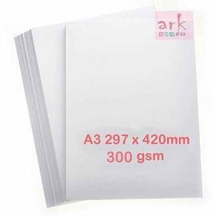 100 hojas de cartón grueso blanco A3 300 g/m² EDIXION ...