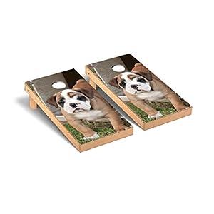 Victory Tailgate Bulldog Puppy Cornhole Game Set