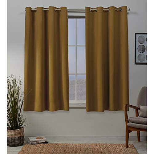 Exclusive Home Curtains Sateen Panel Pair, 52x63, Honey ()