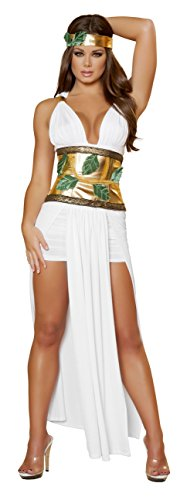 Goddess Of Love Aphrodite Sexy Costumes (4 Piece Sexy Greek Goddess Aphrodite Adult Women's Costume)