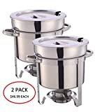11 Qt ChefMaid Soup Chafer Stantion With Water Pan Contemporary Marmite, Includes Fuel Holder (2)
