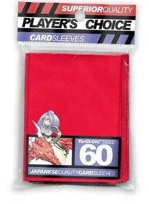 Player's Choice Yu-Gi-Oh! Red Sleeves (Pack of 60) - Designed for Smaller (Players Choice Sleeves)