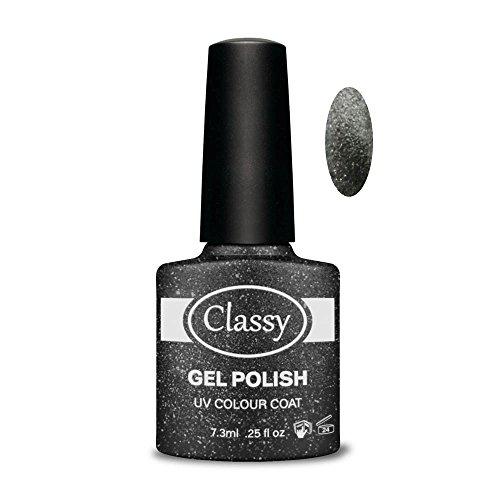 Classy UV Polish Gel Farbe Coat, Schwarz Charme