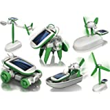 Zaid Collections Plastic 6-in-1 Educational Solar Robot Energy Kit for Science School Projects for Kids (Multicolour)