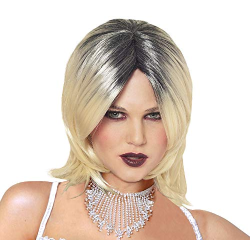 Evil Bride Wig (Blonde w/ Black) Adult Accessory]()