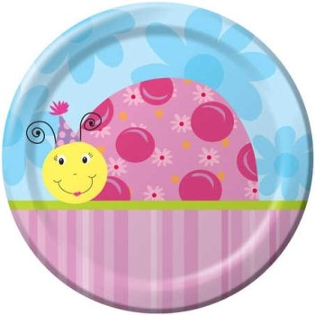 Lil Lady Bug 9-inch Paper Plates 8 Per Pack