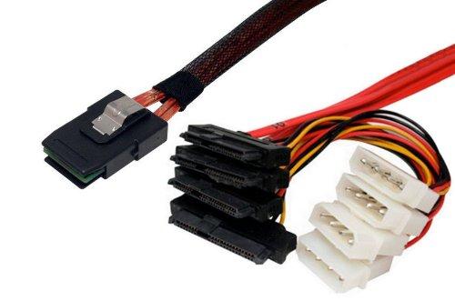 Data Storage Cables, p/n I3629-.5MC: Internal Mini SAS 36-SAS Drive x 4, 0.5M, Generic [Electronics] by Data Storage Cables (Image #1)'