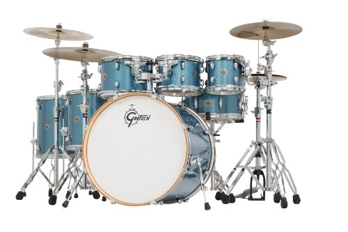 Gretsch Drums Catalina Maple CM1-E826P-AS 6-Piece Drum Shell Pack, Aqua Sparkle ()